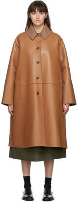 Loewe Tan Nappa Leather Coat