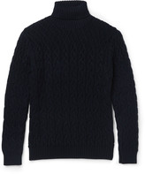 Etro - Cable-knit Wool Rollneck Sweater