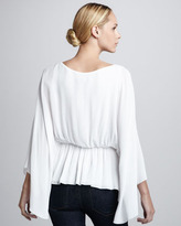 Alice + Olivia Judith Butterfly-Sleeve Top