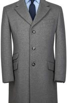 Charles Tyrwhitt Slim fit Silver wool and cashmere Epsom overcoat