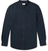Club Monaco Slim-Fit Grandad-Collar Cotton-Seersucker Shirt
