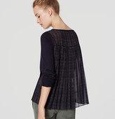 LOFT Plaid Pleated Sweater