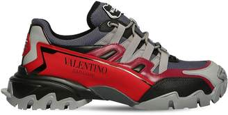 """Valentino CLIMBERS"""" MESH & LEATHER SNEAKERS"""