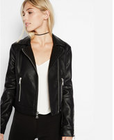 Express black (Minus the) leather zip moto jacket