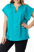 Mynt 1792 Plus Size Women's Dolman Sleeve Georgette Top