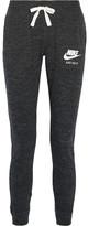 Nike Gym Vintage Organic Cotton-blend Jersey Track Pants - Black