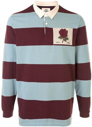 Kent & Curwen Rose Patch Colour Block Polo Shirt