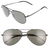 Oliver Peoples Men's 'Kannon' 59Mm Aviator Sunglasses - Black