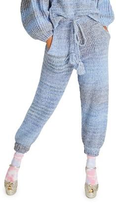 LoveShackFancy Blossom Merino Wool Knit Joggers