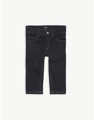 BOSS Dark wash stretch-cotton jeans 6-36 months