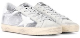Golden Goose Deluxe Brand Superstar metallic leather and suede sneakers