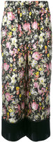 3.1 Phillip Lim cropped wide leg floral pants - women - Silk - 6