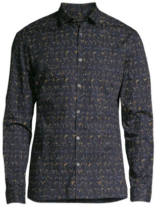 John Varvatos Fulton Slim-Fit Printed Sport Shirt