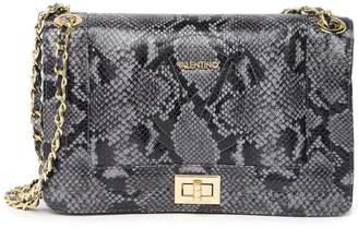Mario Valentino Valentino By Alice Python Leather Shoulder Bag