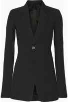 Rick Owens Wool-blend Crepe Blazer - Black