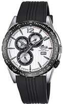 Lotus Men's Quartz Watch with Silver Dial Analogue Display and Black Rubber Strap 18310/1
