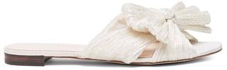 Loeffler Randall Daphne Flat Metallic Sandals