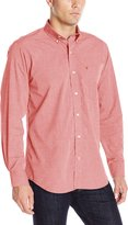 Izod Men's Long Sleeve Solid Essential Woven