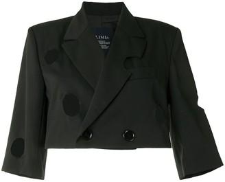 Yohji Yamamoto Cropped Cut-Out Blazer