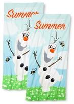 Disney Frozen Olaf Celebrate Summer Beach Towel 2-pack