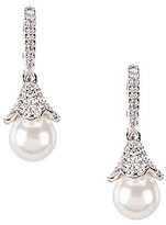 Nadri Pave & Faux-Pearl Drop Earrings