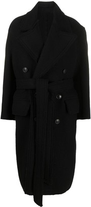 AMI Paris Double-Breasted Belted Coat