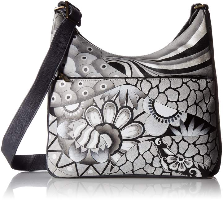 Anuschka Anna By Anna by Hand Painted Leather Women's Crossbody HOBO