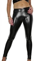 Ice 1460-1) Wet Look Metallic Skinny Tight Fit Leggings (Fits 2-10)