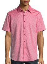 Robert Graham Seven Wonders Short Sleeve Cotton Shirt