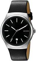 Skagen Men's SKW6260 Sundby Black Leather Watch