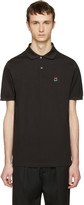 Paul Smith Black Floral Smiley Polo
