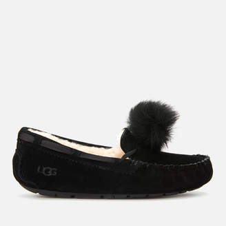 UGG Women's Dakota Pom Pom Moccasin Slippers - Black