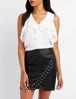 Charlotte Russe Ruffle Tie-Back Tank Top