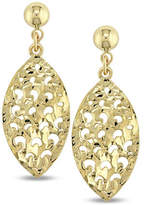 Fine Jewellery 14K Gold Cut-Out Leaf Drop Earrings