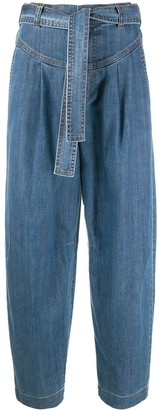 See by Chloe Tie-Waist Wide-Leg Jeans
