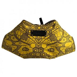 Alexander McQueen Manta Yellow Silk Clutch bags