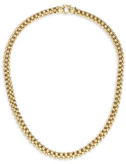 Adina Reyter Heavy Gold 14K Yellow Gold Diamond-Cut Chunky Chain Necklace