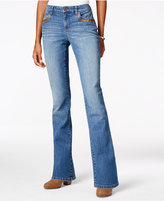 Style&Co. Style & Co. Faux-Leather-Trim Degraw Wash Bootcut Jeans, Only at Macy's