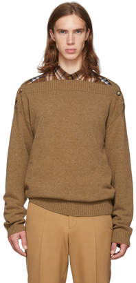 Burberry Brown Knit Boatneck Sweater