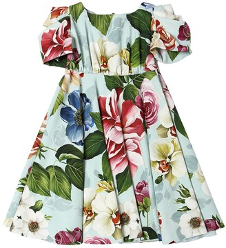 Dolce & Gabbana Flower Print Cady Dress