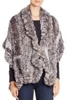The Fur Salon Knitted Chinchilla Fur Stole