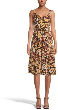 INC International Concepts Inc Sweetheart-Neck Printed Fit & Flare Dress, Created for Macy's