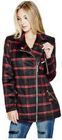 G by Guess GByGUESS Women's Audrino Plaid Moto Coat