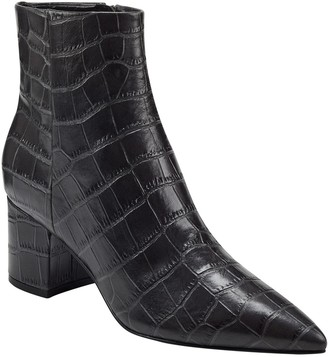 Marc Fisher Jarli3 Croc Embossed Leather Ankle Boot