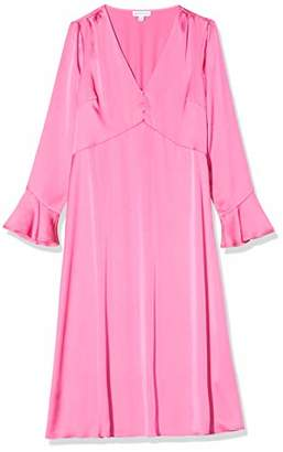 Warehouse Women's Satin Button Front Midi Dress Bridesmaid