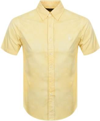 Ralph Lauren Short Sleeved Custom Fit Shirt Yellow