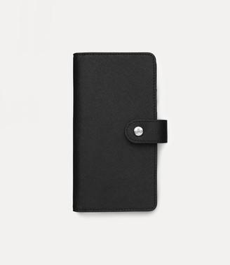 Vivienne Westwood Victoria Flap Iphone Case Black - 7/8