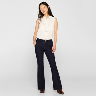 Esprit Flared Jeans with Twin Button Fastening