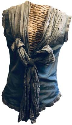Anna Molinari Grey Silk Top for Women