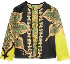 Etro Reversible Printed Crinkled-Satin Jacket